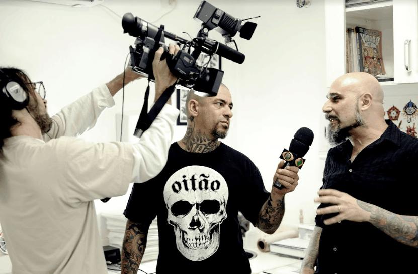 Duas artes se encontram: Paulão Tattoo e o Chef Fogaça
